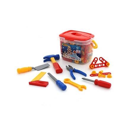 Набор инструментов 132 элемента в ведёрке Wader 47175, фото 2