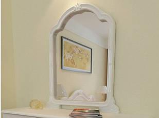 Дзеркало на стіну з ДСП/МДФ у вітальню спальню Футура Миро-Марк глянець білий