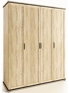Шафа (шкаф) з ДСП/МДФ в спальню/вітальню/дитячу 4Д Палермо дуб сонома Світ Меблів
