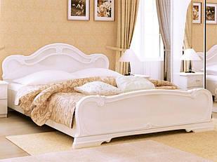Ліжко з ДСП/МДФ в спальню Футура 1,6х2,0 з каркасом білий Миро-Марк