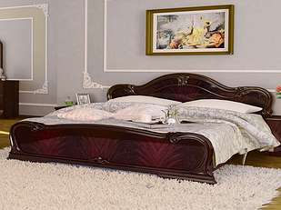 Ліжко з ДСП/МДФ в спальню Футура 1,6х2,0 з каркасом рубіно Миро-Марк