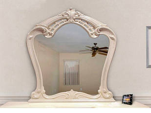 ДЗеркало на стіну з ДСП/МДФ у вітальню спальню Реджина беж Миро-Марк