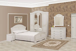 Спальня комплект з ДСП/МДФ 5Д (без матрасу та каркаса) Луіза (патина) Світ Меблів
