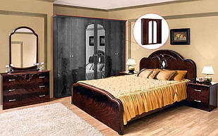 Спальня комплект з ДСП/МДФ Лаура 4Д ялина махонь Світ Меблів