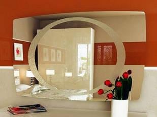 Дзеркало на стіну з ДСП/МДФ у вітальню спальню Флора Миро-Марк