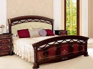 Ліжко з ДСП/МДФ в спальню Россела 1,6х2,0 м'яка спинка з каркасом Миро-Марк