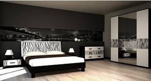Спальня комплект з ДСП/МДФ 4ДЗ (без матрасу та каркаса) Бася Нова нейла глянець Світ Меблів