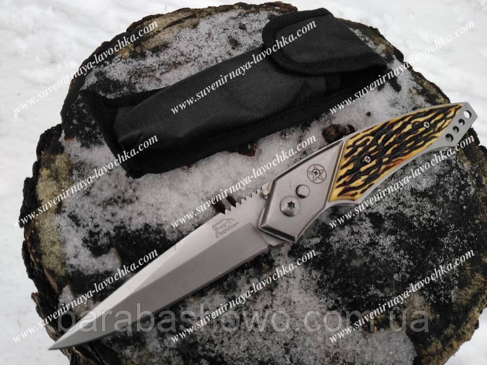 Ніж викидний 102 ріг, надійний туристичний ніж, міцний, надійний