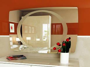 Дзеркало на стіну з ДСП/МДФ у вітальню спальню Піонія Миро-Марк