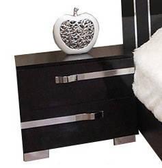 Тумбочка приліжкова з ДСП/МДФ в спальню Екстаза чорна Світ Меблів