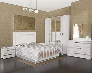 Спальня комплект з ДСП/МДФ 4Д (без матрасу) Екстаза біла Світ Меблів