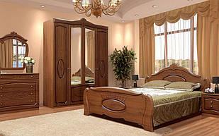 Спальня комплект з ДСП/МДФ 5Д (без матрасу та каркаса) Катрин (патина) Світ Меблів