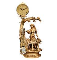 """Камінний годинник з маятником """"Дівчина з квітами"""" Jibo 117A, 72см"""