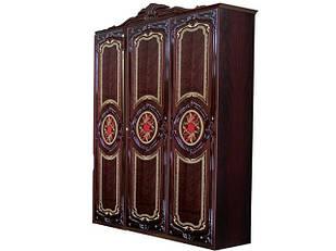 Шафа (шкаф) з ДСП/МДФ в спальню/вітальню/дитячу Реджина 3Д без дзеркал рубіно Миро-Марк