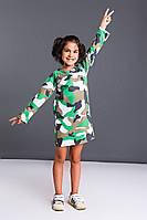 Детское платье WV в стиль милитари из французского трикотажа