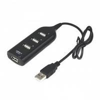 USB хаб hub 4 порта разветвитель удлинитель Black