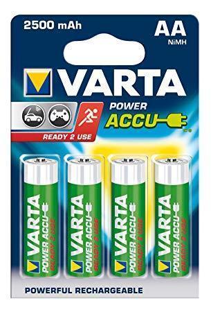 4шт аккумулятор R06 Varta AA 2500 Ready 2 Use