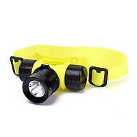 Налобный подводный фонарь для дайвинга фонарик, фото 1