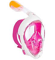 Tribord Subea easybreath-SM-pink, Полнолицевая Маска с трубкой, SM, розовая