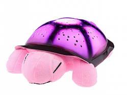 Музыкальная ночник черепаха проектор Pink