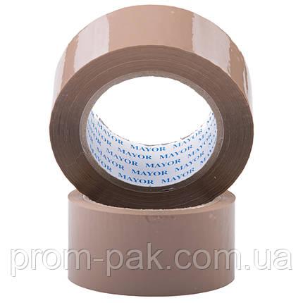 Упаковочная клейкая лента 48 х 91 м 40мкм  коричневая, фото 2