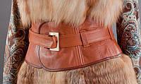 Кожаный пояс-корсет (широкий пояс) .Объем талии 60-80 см.
