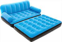 Надувной диван трансформер Bestway 67356 с насосом голубой, фото 1