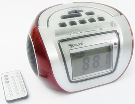 Бумбокс колонка караоке годинник MP3 Golon RX 656Q Red