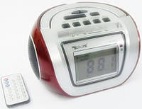 Бумбокс колонка караоке годинник MP3 Golon RX 656Q Red, фото 1