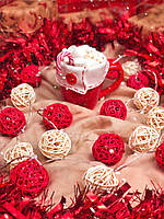 """Светодиодная новогодняя гирлянда на батарейках из шариков ротанга """"Роскошная"""". Диаметр шарика - 5 см. , фото 1"""