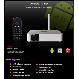 Smart TV Box android 4.0 Measy 5A5