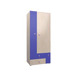 Шафа в дитячу кімнату з ДСП/МДФ SNOOPY A Blonski 3-х дверна атланта+фіолет синій