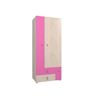Шафа в дитячу кімнату з ДСП/МДФ SNOOPY A Blonski 3-х дверна атланта+рожевий