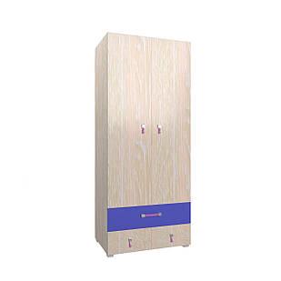Шафа в дитячу кімнату з ДСП/МДФ SNOOPY В Blonski 2-х дверна атланта+фіолет синій