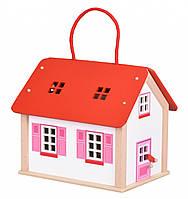 Кукольный домик goki Дорожный с ручкой 51780G