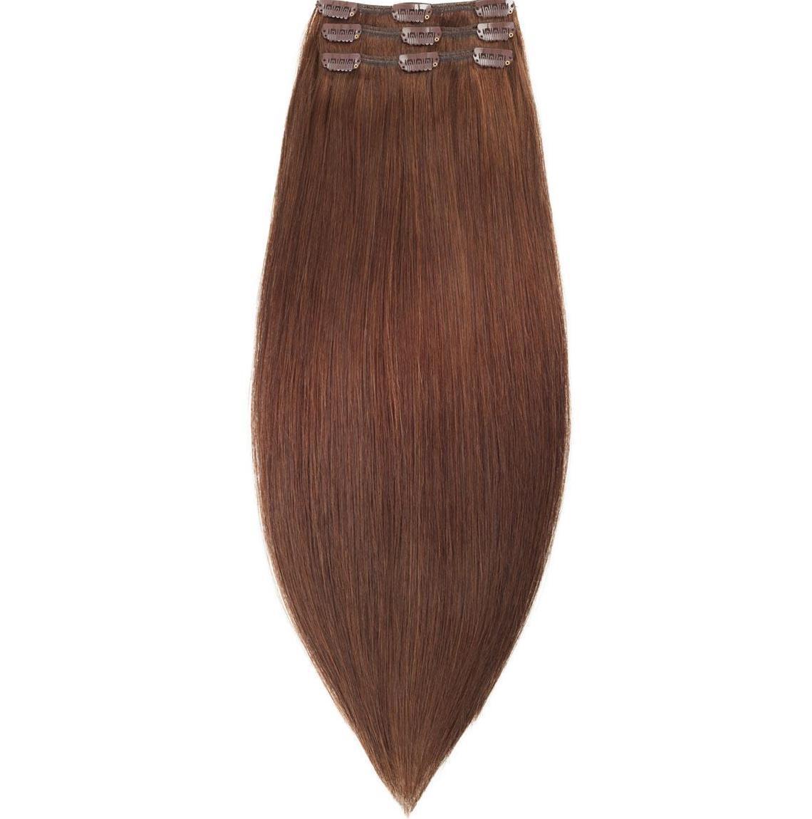 Волосы на заколках 50 см. Цвет #04 Шоколад