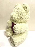Мишка из роз 40 см белый, фото 3