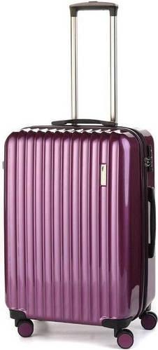 Женский, пластиковый прочный чемодан на 4-х колесах 65/70 л. Sumdex (Самдекс) SWR-724RP фиолетовый