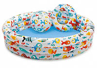 Детский надувной бассейн Intex 59469 + круг + мяч, фото 1