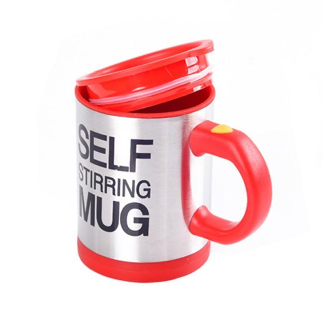 Чашка мешалка размешивание сахара Self Mug Red