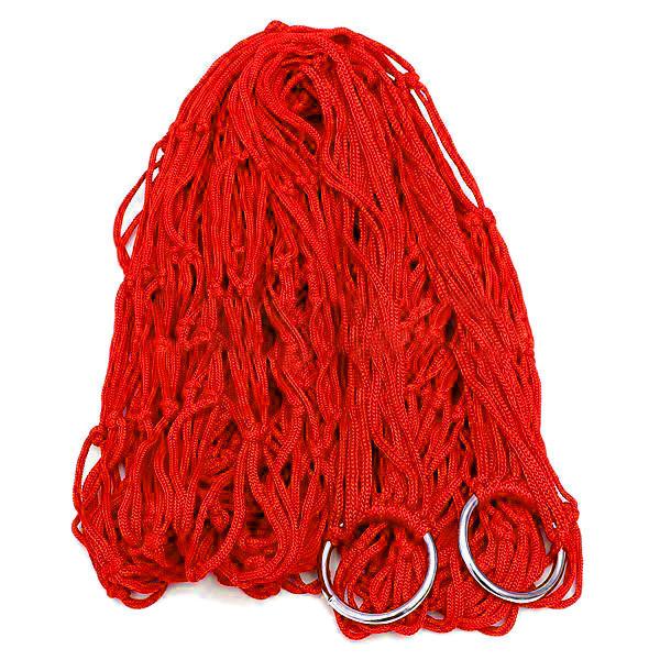 Гамак сетка на кольцах 270х80см Red