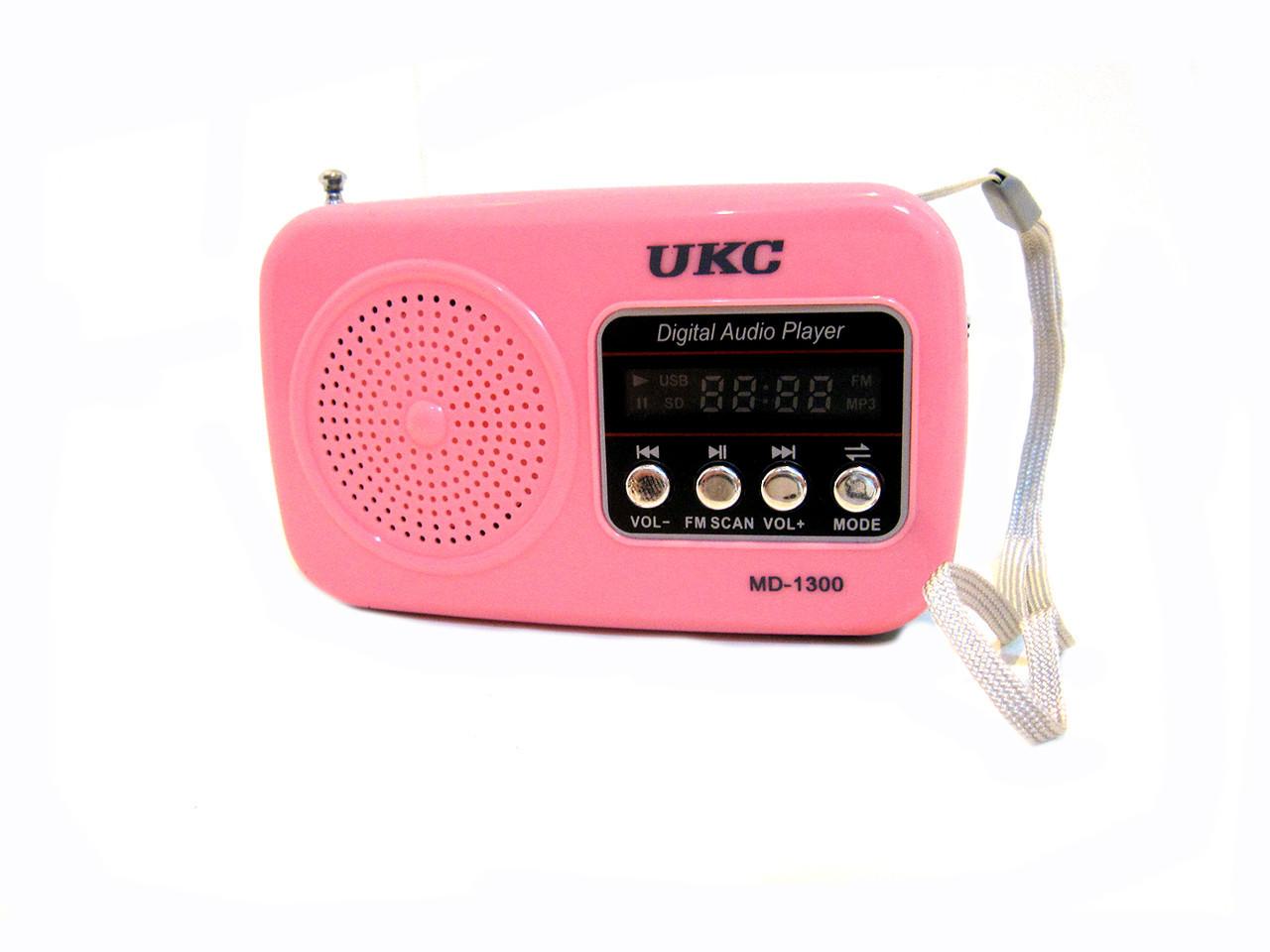 Цифровой радиоприемник UKC MD-1300 USB MP3 Pink, фото 1