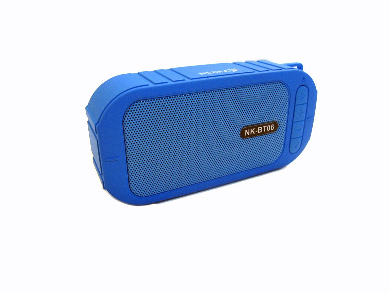 Водонепроницаемая bluetooth колонка MP3 BT06 Blue