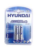 2шт Аккумулятор пальчиковый Hyundai AA 800 mAh