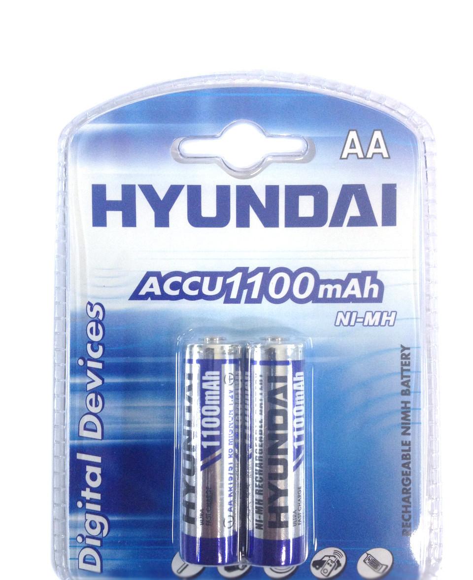 2шт Аккумулятор пальчиковый Hyundai AA 1100 mAh