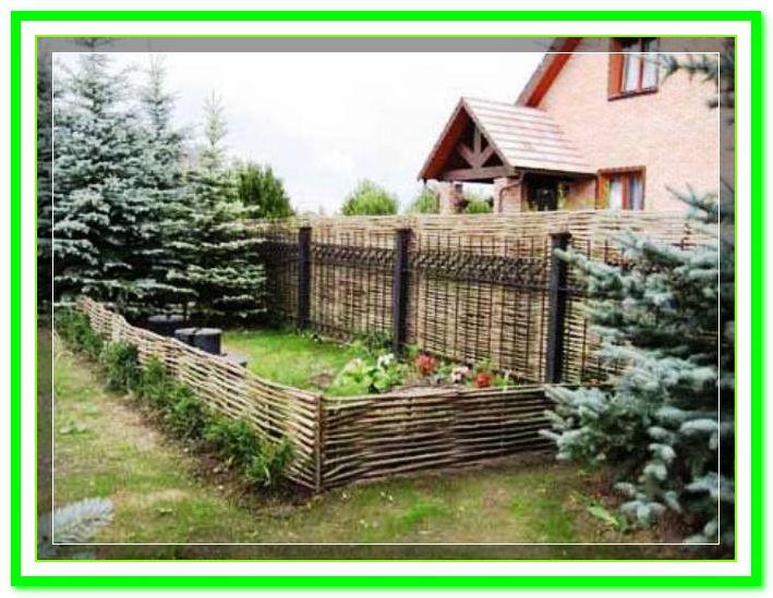 Плетеный (плетень) забор - тын из лозы декоративный от производителя