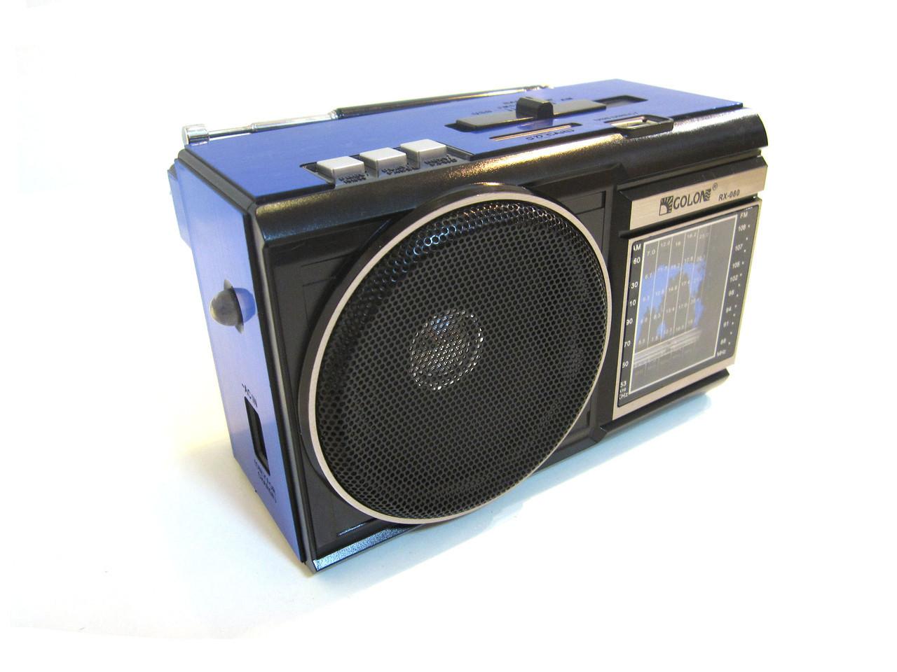 Радиоприемник колонка MP3 Golon RX-080 Blue, фото 1