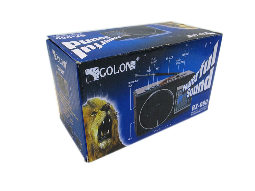 Радиоприемник колонка MP3 Golon RX-080 Wooden, фото 1
