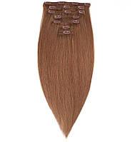 Волосы на заколках 65 см 160 грамм. Цвет #10 Натуральный русый, фото 1
