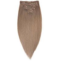 Волосы на заколках 50 см 160 грамм. Цвет #08 Русый, фото 1